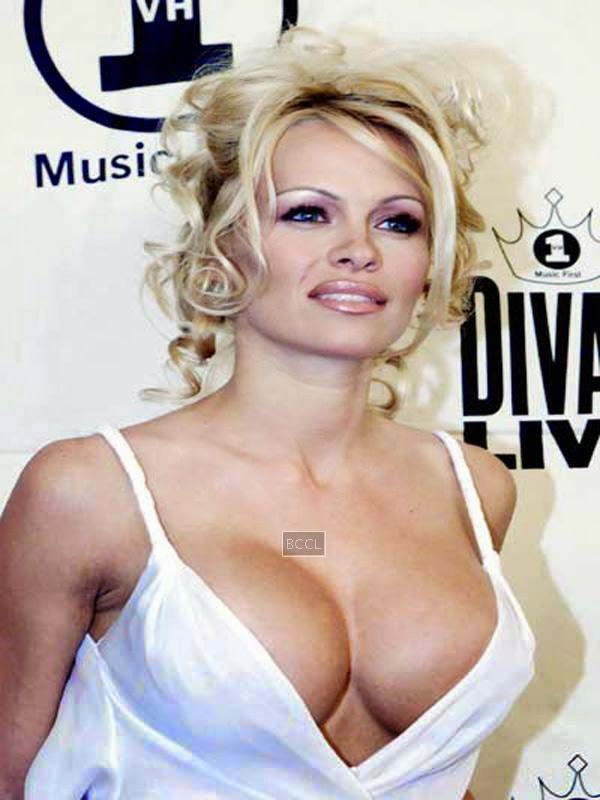 Pamela Anderson's on-your-face assets are errr... daunting?