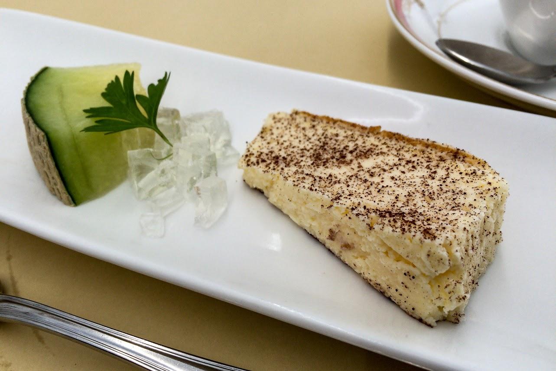 プチデザート:チーズケーキ&メロン