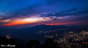 Colorful Evening over Abbottabad City.