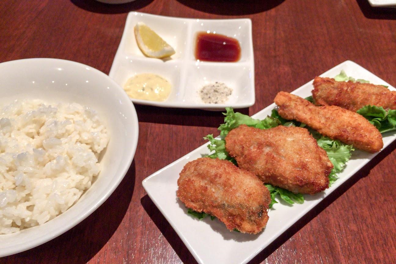 牡蠣フライは4種類の味付けで!