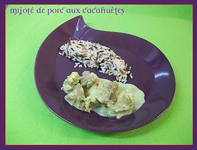 Mijoté de porc aux cacahuètes