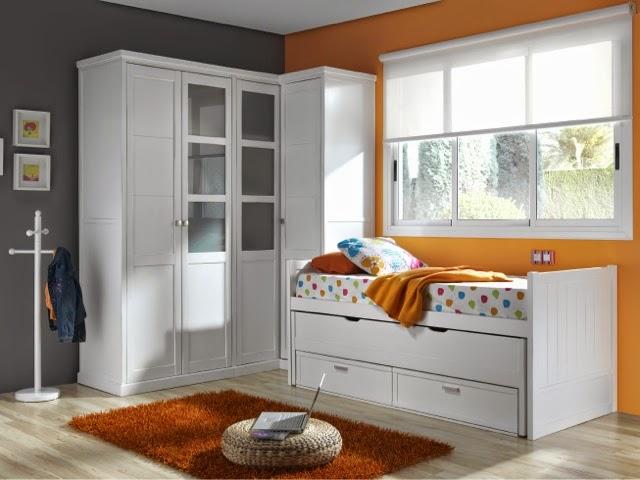 Cama compacta con cama desplazable for Medidas cama compacta