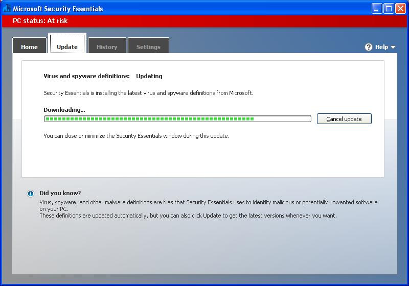 Microsoft Security Essentials (32 bit)