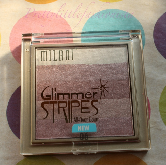 Milani Glimmer Stripes in Pink Glimmer