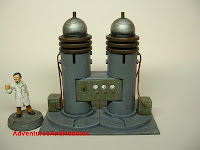 Twin capacitor towers Mad Science war game terrain and scenery - UniversalTerrain.com