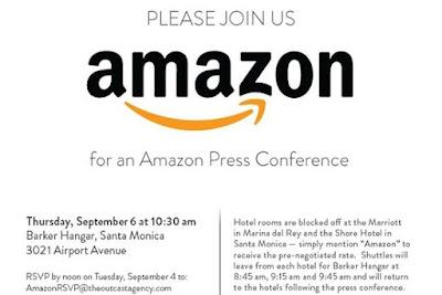 アマゾン、プレス向けイベントの招待状:Wall Street Journal