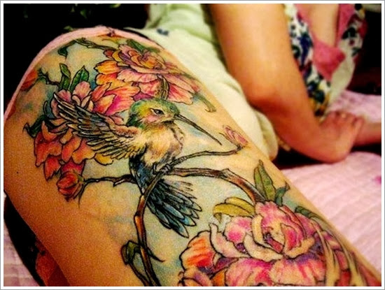 thigh tattoo desings for girls