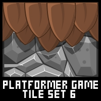 Jungle Platformer Game Tile Set