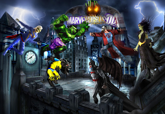 Spooky Marvel VS DC by OCP & cmeza (2008)