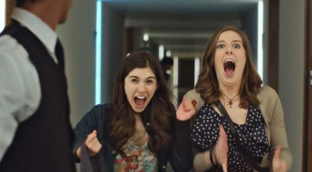 "These Two Women Have an Orgasmic Experience in ""Booking Joy"" Ad from Australia"