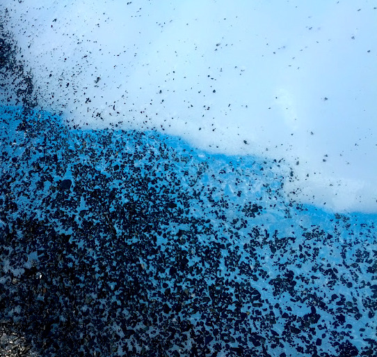 Icy blue vein among glacier ice, Matanuska Glacier