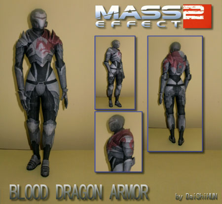 Mass Effect 2 Blood Dragon Armor Papercraft
