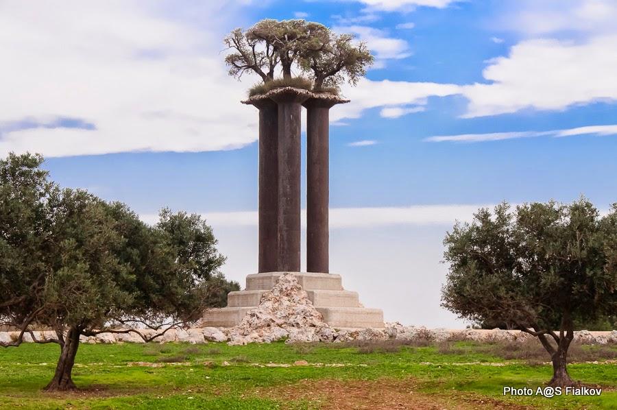 Парящие деревья. Скульптор Ран Морин. Экскурсия в Израиле Светланы Фиалковой.