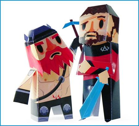 Yogscast Paper Toy Honeydew Xephos