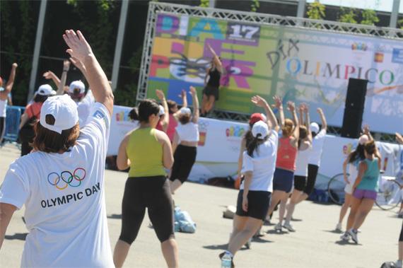 Celebración del Día Olímpico y el Día del Deporte en Madrid Río