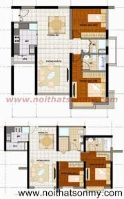 Mặt bằng thiết kế nội thất căn hộ 384