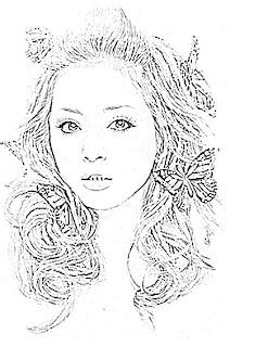 Ayumi Hamasaki Sketch