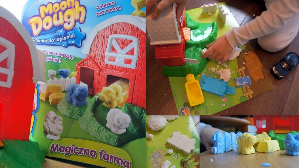 Zabawki dla alergika - magiczna pianka Moon Dough.