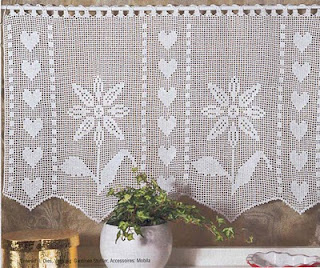 Free Knitting Patterns For Lace Curtains : Knitting Patterns Free: Lace Curtain Samples