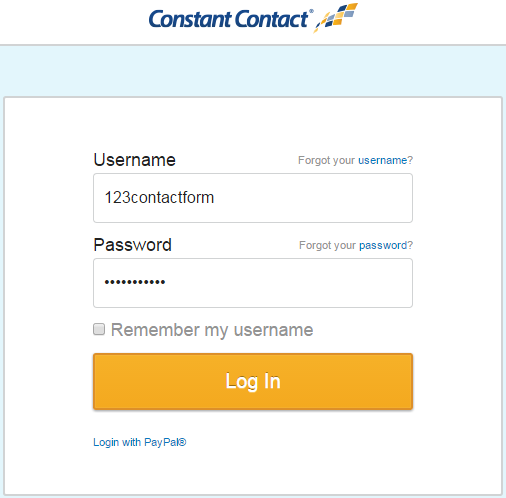 123ContactForm Constant Contact integration