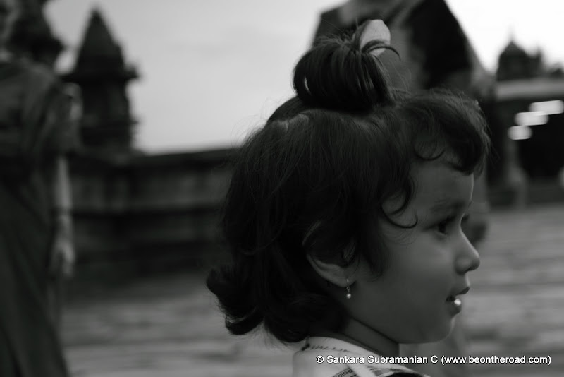 A Monochrome Portrait: Side view of a Kid