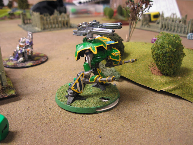 Tim's Warlord getting some exercise.
