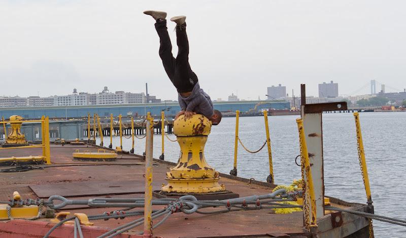 Black Cordarounds Dock Handstand