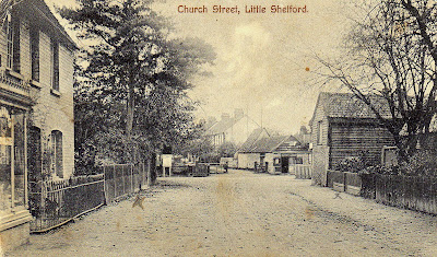 The former Post Office and the Blacksmith's workshop, Church Street, Little Shelford