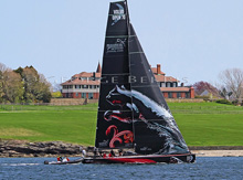Volvo 70 Puma Mar Mastro sailing off Newport, RI- Ken Read skipper