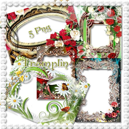 5 Цветочных рамок для Photoshop