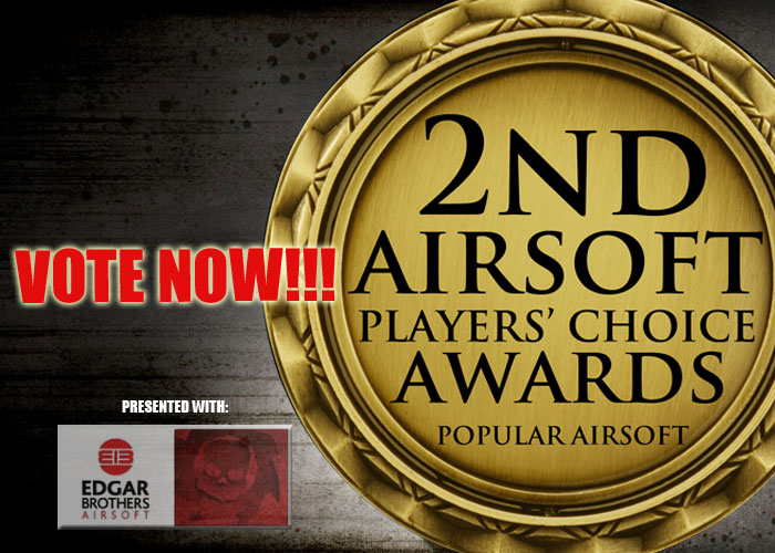 Popular Airsoft Awards, Airsoft Players Choice Awards, Popular Airsoft Vote, Pyramyd Airsoft Blog, Airsoft Obsessed, Tom Harris Media, Tominator