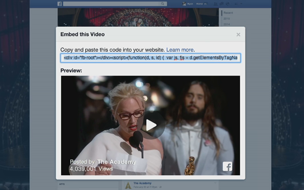 How to embed Facebook videos and images #1