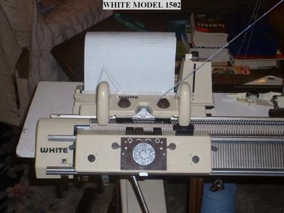 white knitting machine