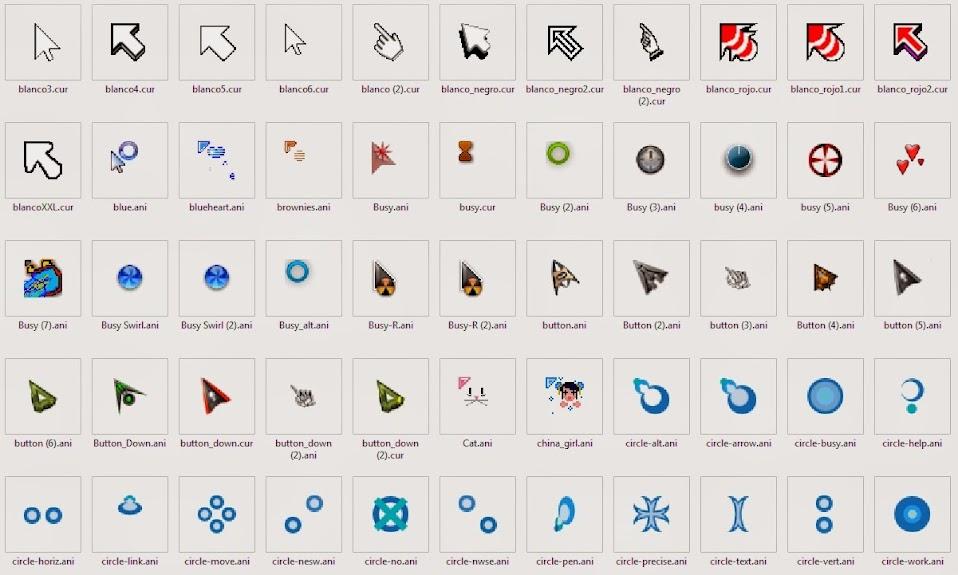 los mejores cursores o punteros del mundo para windows 8