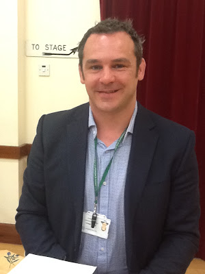 Simon Wilson, physiotherapist, working for East Sussex NHS Trust, speaking on improving patient experience. Monday 20 May 2013