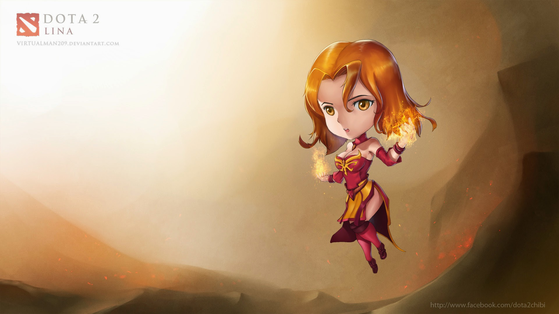 Pháp sư lửa Lina dễ thương với ảnh chibi - Ảnh 1