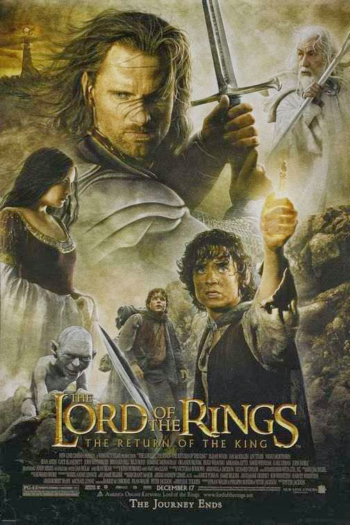 Poster Of The Lord of the Rings (2003) Full Movie Hindi Dubbed Free Download Watch Online At Alldownloads4u.Com