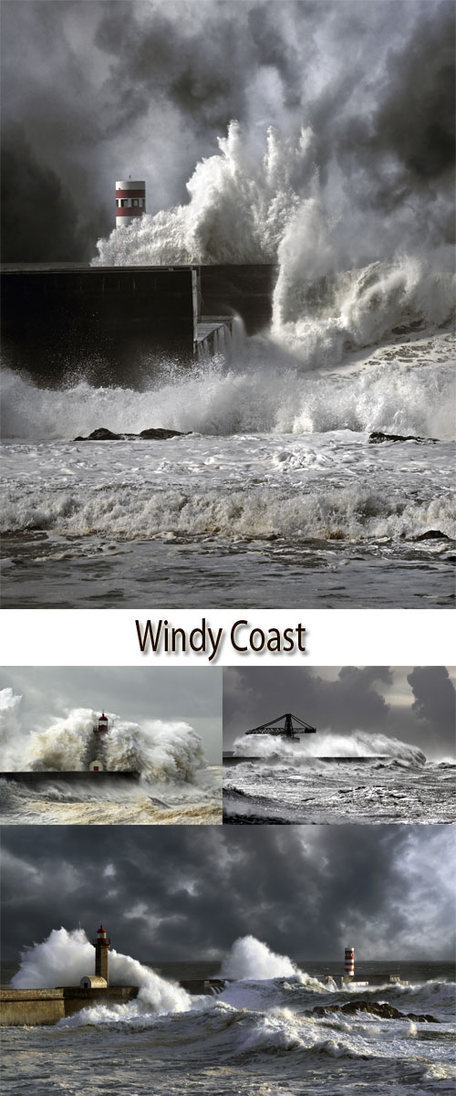 Stock Photo: Windy Coast