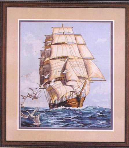 Clipper Ship Voyage cross stitch patterncross stitch pattern