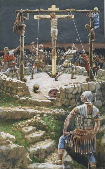 Father, Forgive Them - 'Five Wedges of the Cross' - by James Tissot (1836-1902)