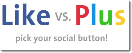 Facebook Like vs Google +1