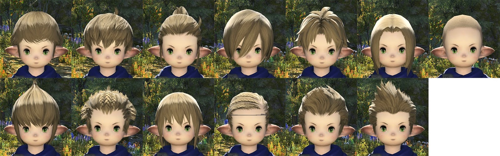 Lalafell Male Hair
