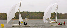 J/80s finishing LidingoRunt race off Sweden