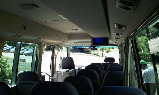 帰りのシャトルバスは貸切状態でした