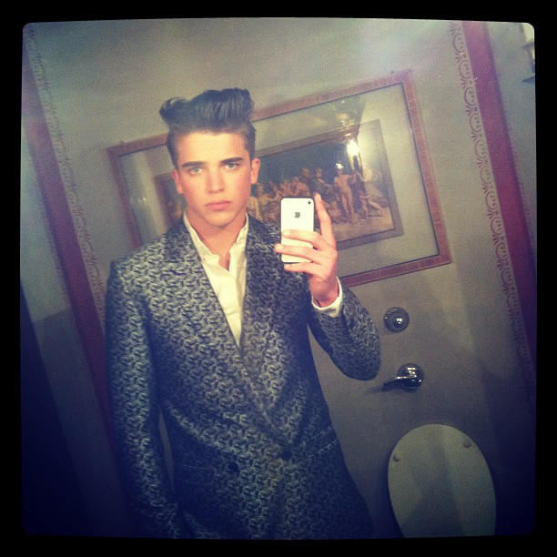 River Viiperi @ Soul on break at the Versace F/W 12-13 dinner in Milan, Sunday January 16, 2012.
