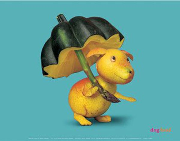 Food Art - Guava Dog with Pumpkin Umbrella