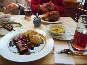 Dining in Nuremberg, Germany, a braised beef cheek