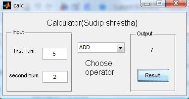 MyTechPost: Fun with Matlab: Calculator