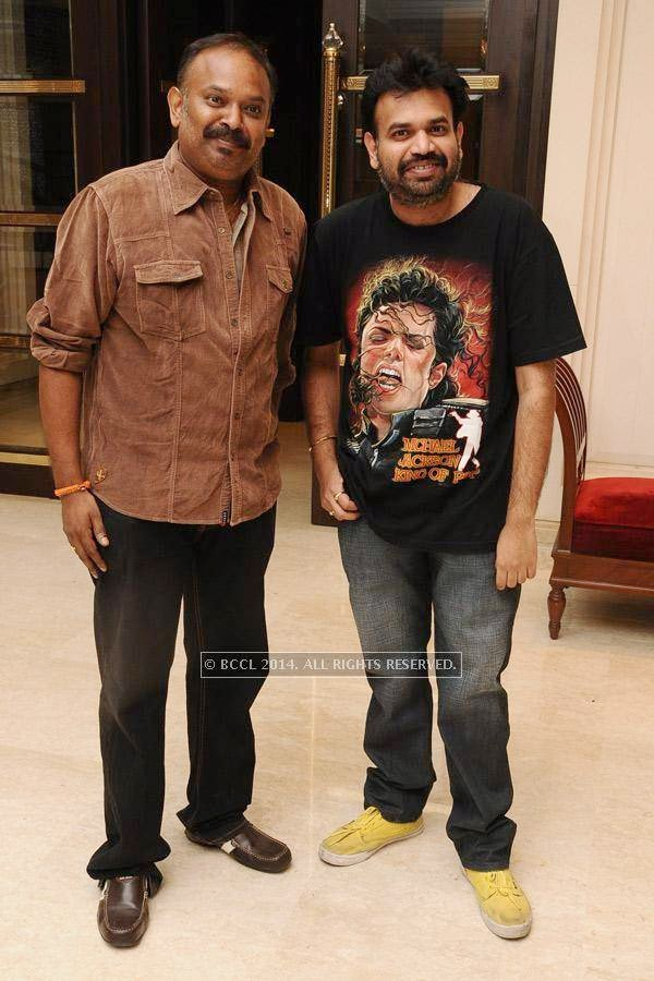 Venkat Prabhu and Premji during the birthday celebration, held at The Leela Palace, in Chennai.
