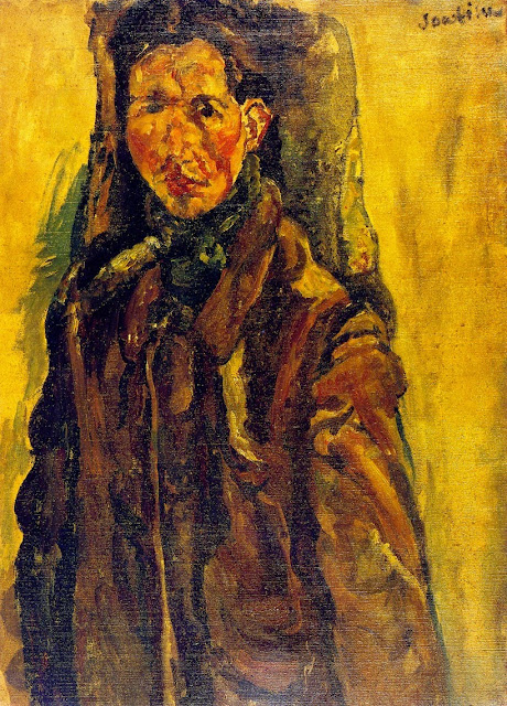 Chaim Soutine - Self-Portrait by a Curtain